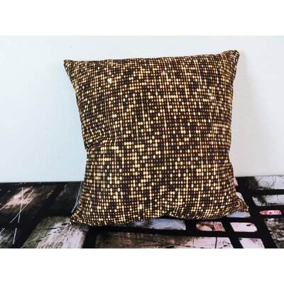 Shiny Golden Shimmer and Paillettes Throw Pillow Size: 18 H x 18 W x 4 D