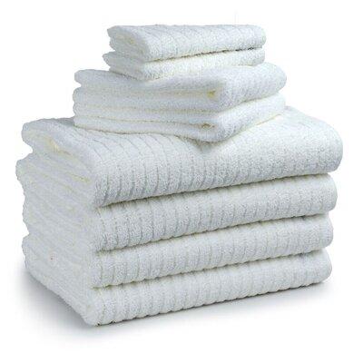 Cambridge Super Dry US Cotton 8 Piece Bath Towel Set Color: White
