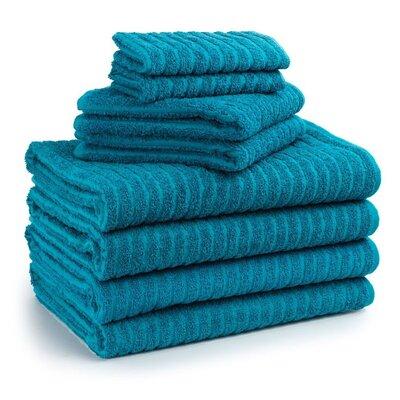 Cambridge Super Dry US Cotton 8 Piece Bath Towel Set Color: Biscay Bay