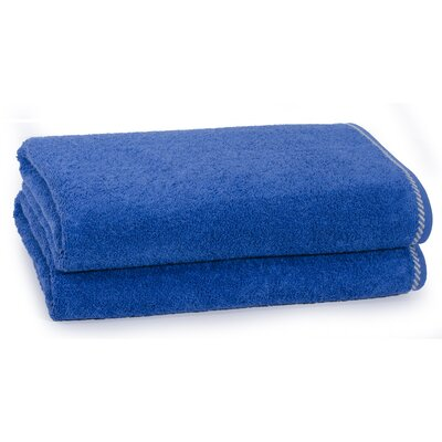 Cambridge Silver X-Static 2 Piece Bath Sheet Set Color: Turkish Blue