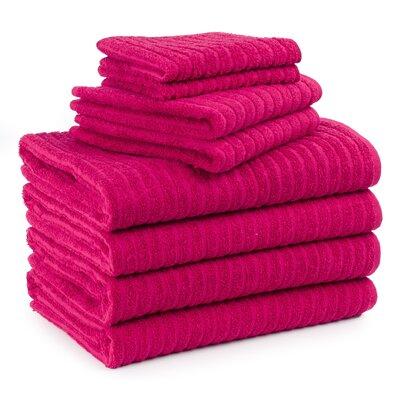 Cambridge Super Dry US Cotton 8 Piece Bath Towel Set Color: Pink Flambe