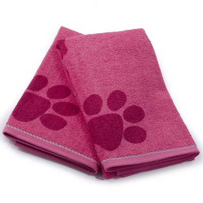 X-Static Pet Bath Towel Color: Pink Flambe