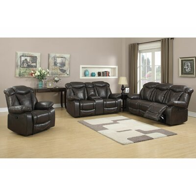 Madison 3 Piece Leather Living Room Set