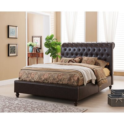 Venice Upholstered Panel Bed Size: California King