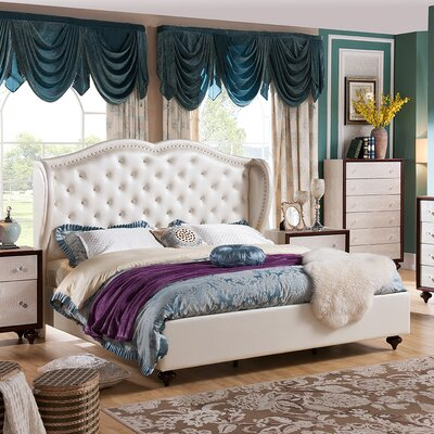 Elisabeth Upholstered Platform Bed Size: California King