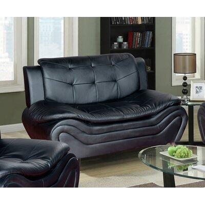 Tolar Loveseat Upholstery: Black