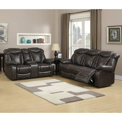 7538-2PC Living In Style Living Room Sets