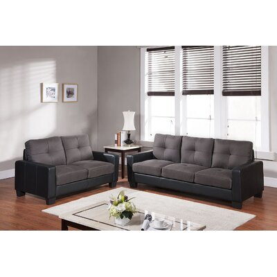 2406-2PC Living In Style Living Room Sets
