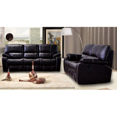 7518-2PC Living In Style Living Room Sets