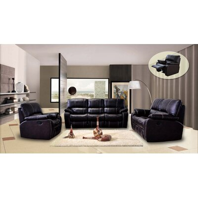 Orleans 3 Piece Leather Living Room Set