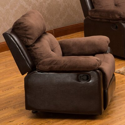 Tavistock Manual Recliner Upholstery: Dark Brown / Coffee