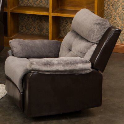 Tavistock Rocking Recliner Upholstery: Gray / Coffee