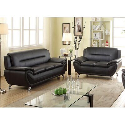 Sophie Modern Living Room Sofa and Loveseat Set