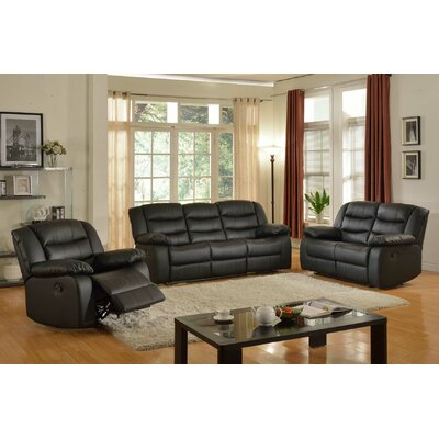 Casta 3 Piece Living Room Set Color: Brown