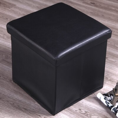 Tolar Storage Ottoman Upholestry Color: Black