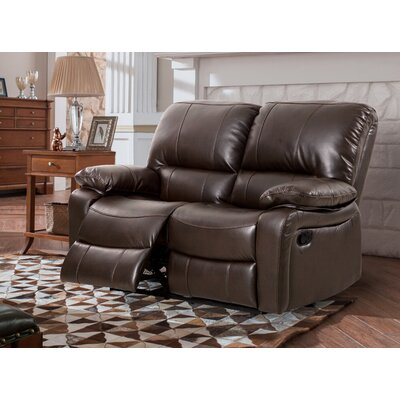 Layla Breathing Reclining Loveseat Upholstery: Dark Brown