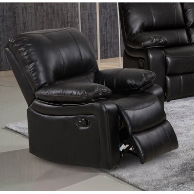 Layla Manual Rocker Recliner Upholstery Color: Black