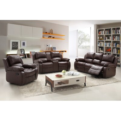 Reno 3 Piece Reclining Living Room Set