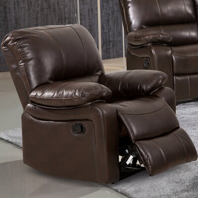 Layla Breathing Leather Recliner Upholstery Color: Dark Brown