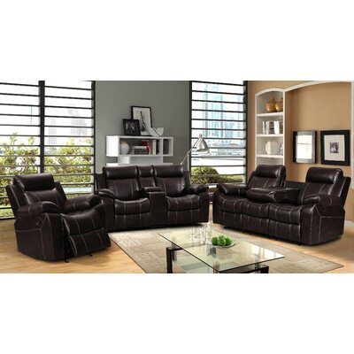 Gabrielle 3 Piece Living Room Reclining Sofa Set