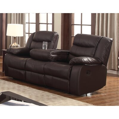 Casta Reclining Sofa Finish: Brown