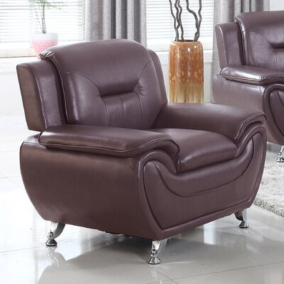 Sophie Armchair Finish: Dark Brown