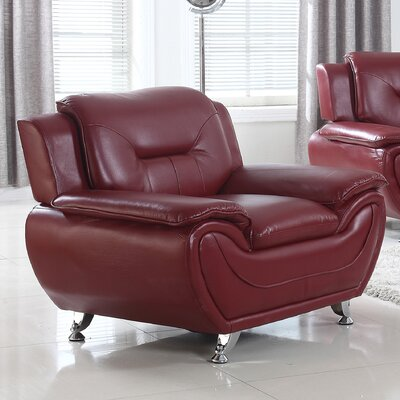 Brose Armchair Finish: Crimson