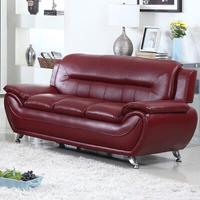 Brose Sofa Finish: Crimson