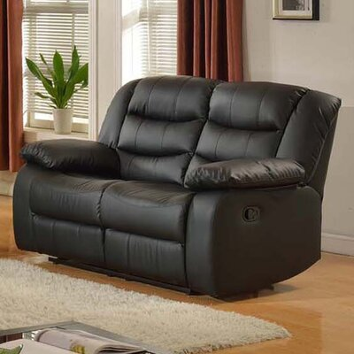 Casta Reclining Loveseat Finish: Black