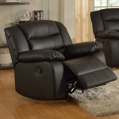 Casta Modern Manual Rocker Recliner Finish: Black