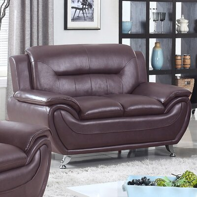 Sophie Loveseat Finish: Dark Brown