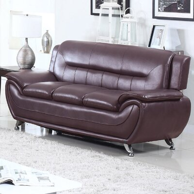Sophie Sofa Finish: Dark Brown