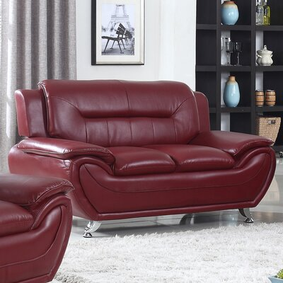 Brose Loveseat Finish: Crimson