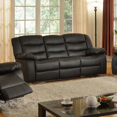 Casta Reclining Sofa Finish: Black