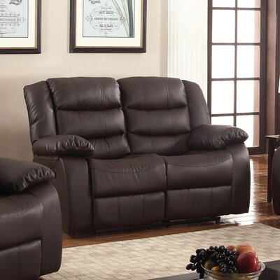 Casta Reclining Loveseat Finish: Brown