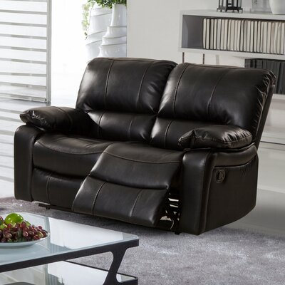Layla Breathing Reclining Loveseat Upholstery: Black