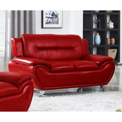 Brose Loveseat Finish: Red