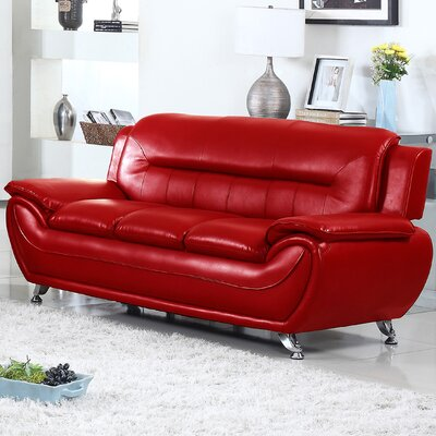 Sophie Sofa Finish: Red