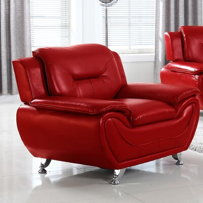 Sophie Armchair Finish: Red