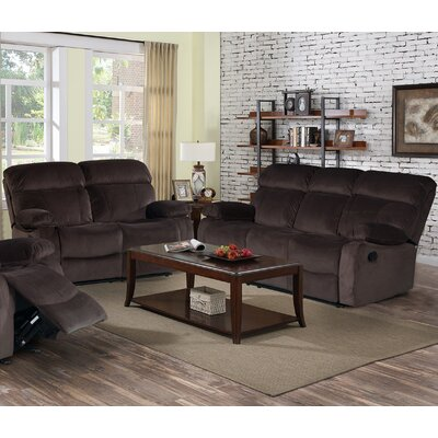 7698-2PC Living In Style Living Room Sets