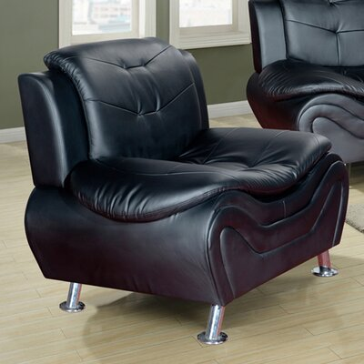 Fiorina Faux Leather Armchair Upholstery: Black