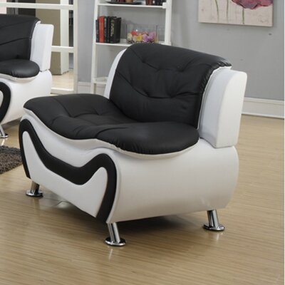 Tolar Lounge Chair Upholstery: Black/White