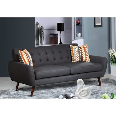 Keira Living Room Sofa Upholstery: Dark Gray