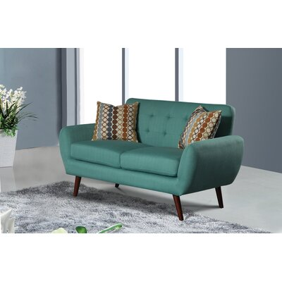 Keira Living Room Loveseat Upholstery: Teal