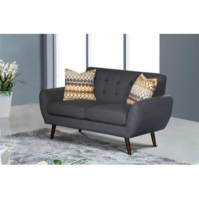 Keira Living Room Loveseat Upholstery: Dark Gray