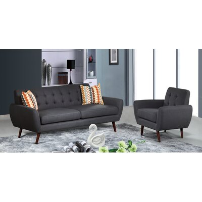 Keira Sofa and Chair Upholstery: Dark Gray