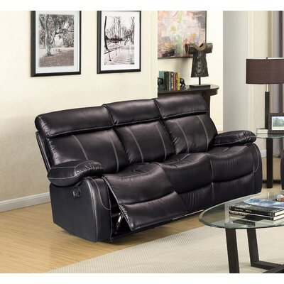 Alvia Breathing Leather Reclining Sofa