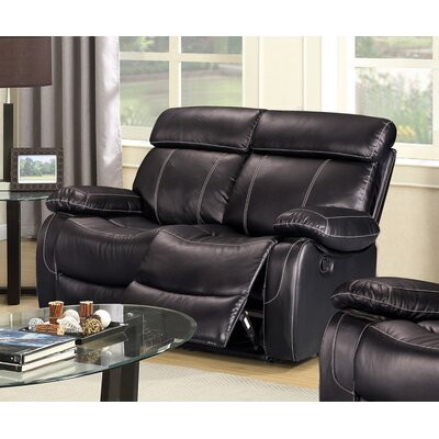 Alvia Breathing Leather Reclining Loveseat