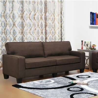 Jordan Linen Modern Living Room Sofa Upholstery: Dark Brown