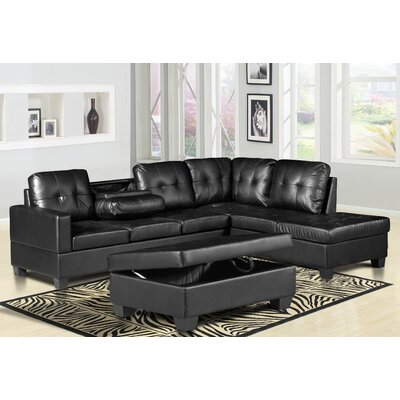 Haskett Reversible Sectional with Ottoman